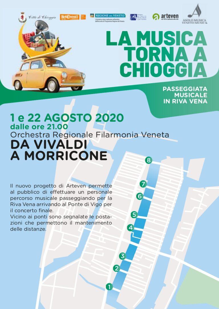 Sabato 1 e 22 agosto, concerto itinerante passeggiando per Riva Vena